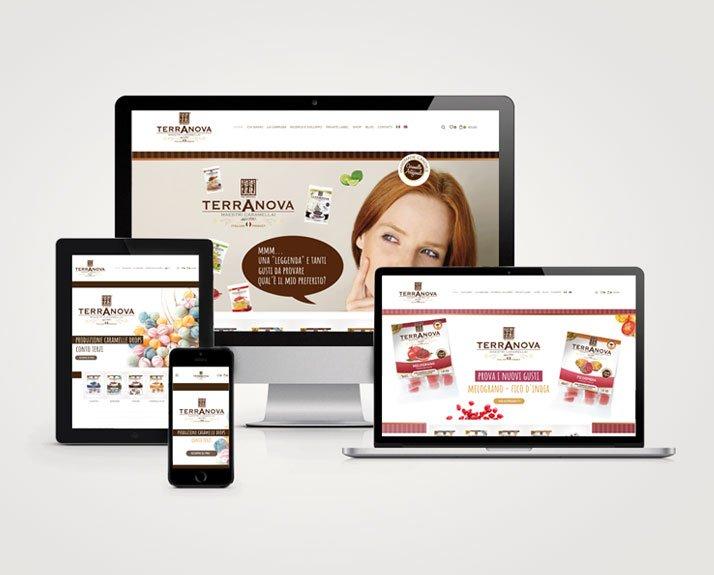 Terranova caramelle e-commerce palermo in più schermi