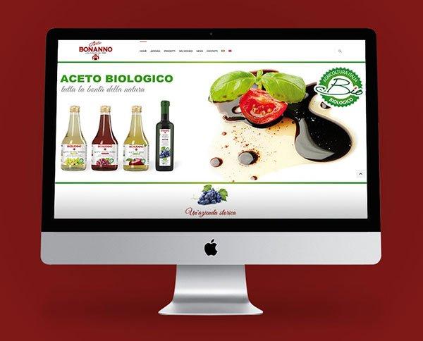 creazione sito Web / Catalogo per Azienda Bonanno proiduzione Aceto Sicilia Palermo
