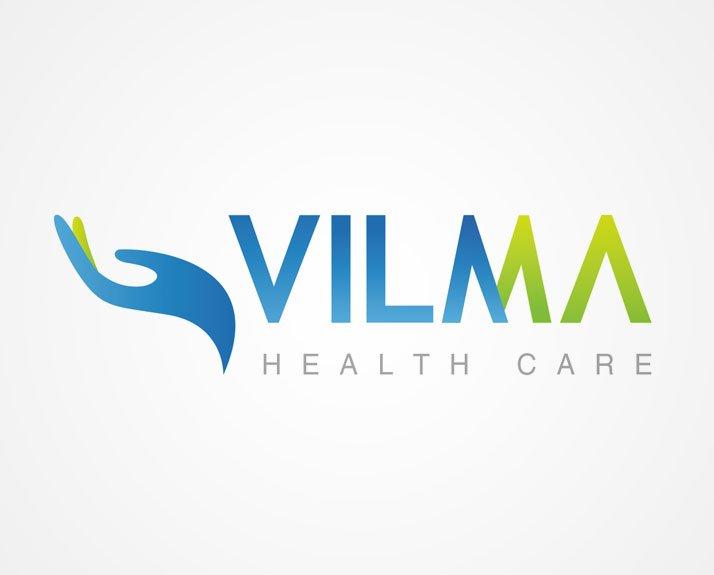 Progettazione e sviluppo Logo marchio per azienda di servizi per la salute ed il benessere Vilma sas sicilia palermo