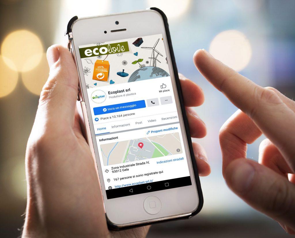gestione pagina facebook social media ecoplast gela