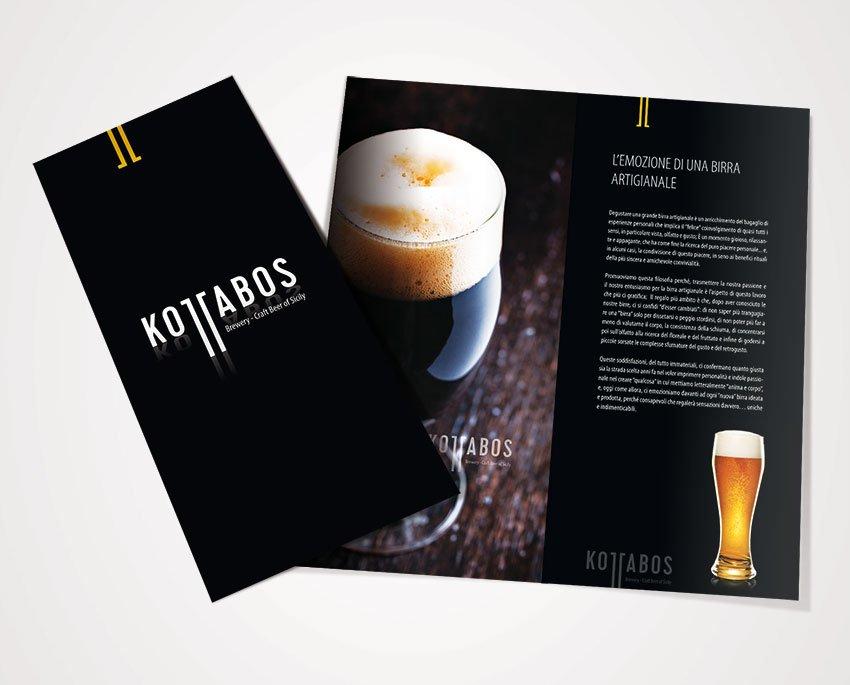 Progettazione catalogo company profile birrificio siciliano Kottabos birre artigianali sicilia