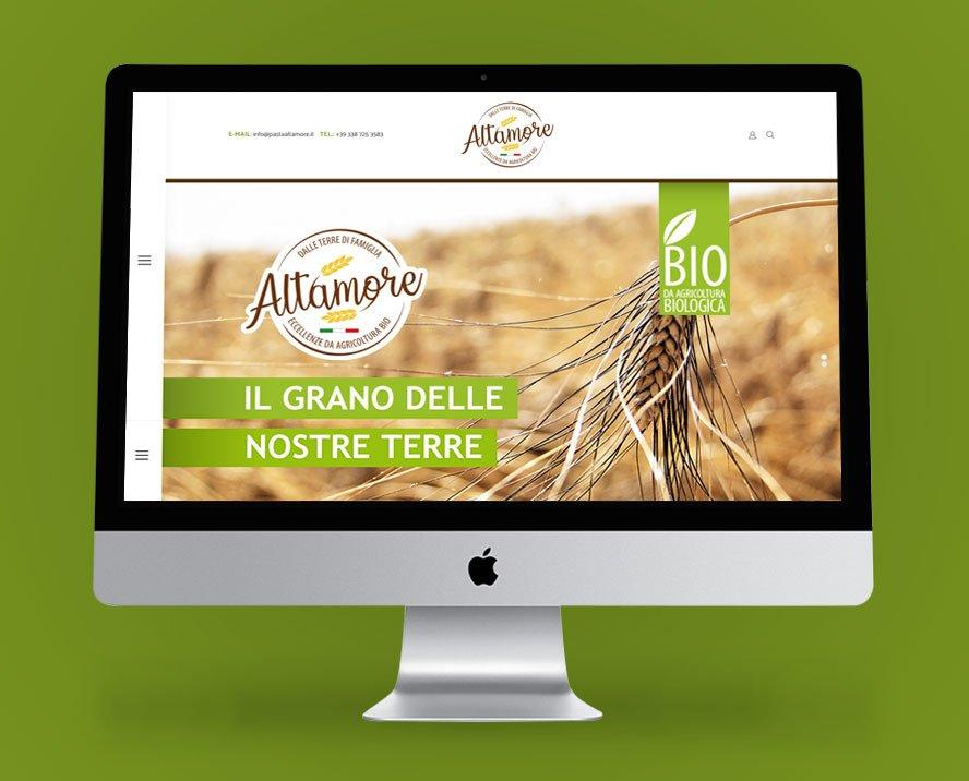 realizzazione sito web prodotti pastificio altamore pasta artigianale sicilia Palermo